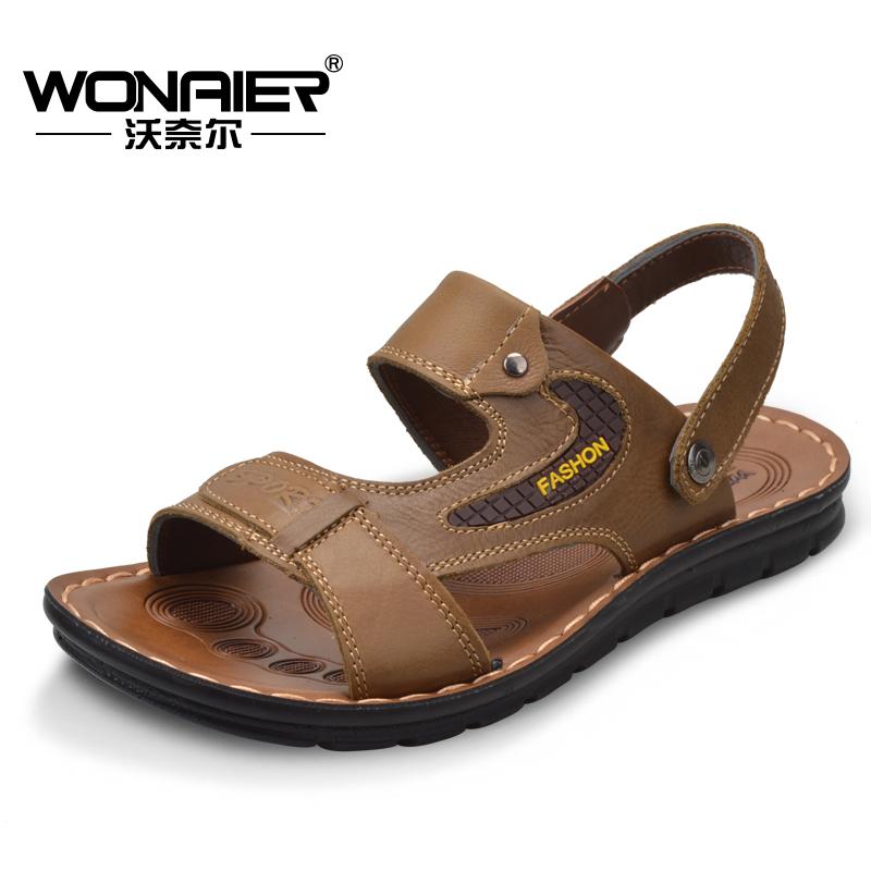 沃奈尔沙滩鞋休闲凉鞋 男透气鞋 男商务凉鞋洞洞鞋 时尚网孔鞋11812