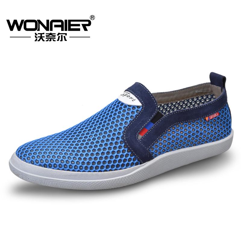 沃奈尔孔鞋 夏季休闲凉鞋 男透气鞋 男商务凉鞋网鞋洞洞鞋6603