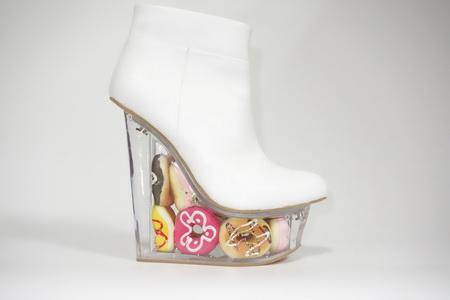 时尚透明水台女鞋