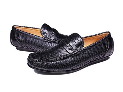 肯迪凯尼固特异手工蛇皮鞋福乐鞋