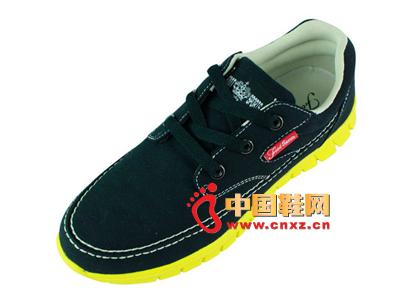 宝元鞋匠新款男鞋上市  时尚黑色休闲男士布鞋