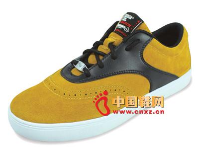宝元鞋匠新款男鞋上市 时尚百搭黄色男士休闲板鞋