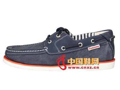 宝元鞋匠新款男鞋上市 时尚百搭系绳休闲牛仔布男鞋