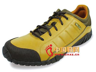 宝元鞋匠新款男鞋上市  时尚黄色系绳男士休闲运动鞋