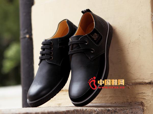 sevenkangaroo(斯凯瑞)系带厚底舒适男士休闲皮鞋5341