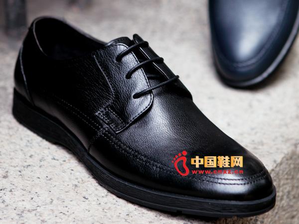 sevenkangaroo(斯凯瑞)系带圆头防滑正装皮鞋5322
