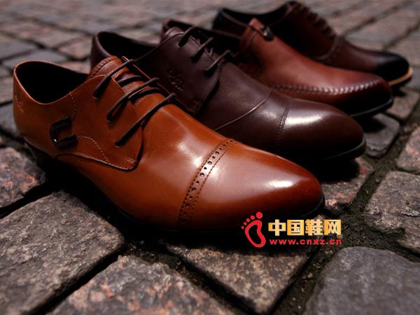 sevenkangaroo(斯凯瑞)系带尖头防滑正装皮鞋5314
