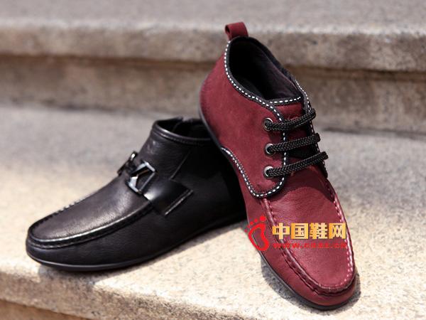 sevenkangaroo(斯凯瑞)系带系带男士真皮休闲鞋5302