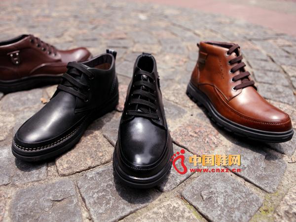 sevenkangaroo(斯凯瑞)黑色系带中邦防滑男士休闲皮鞋5290
