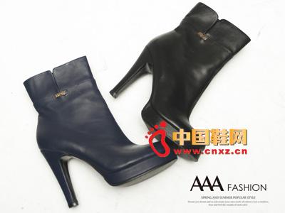 AAA时尚百搭防水台高跟中筒女靴