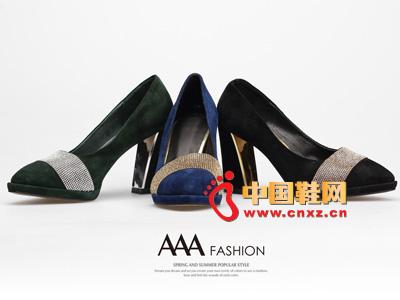 AAA时尚亮片百搭高跟女单鞋
