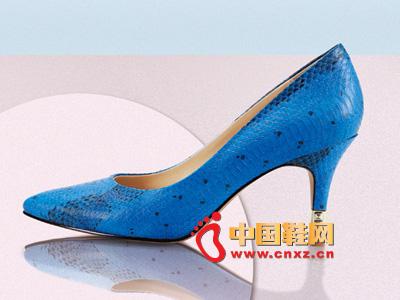 罗拉尼克2014新款女鞋 时尚经典款蓝色高跟女鞋