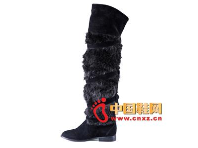 雅伦荻莎2014时尚新款女鞋 休闲长靴