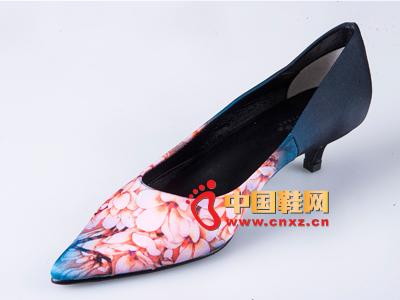 雅伦荻莎2014时尚新款女鞋 低跟尖头单鞋