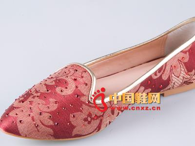 雅伦荻莎2014时尚新款女鞋 亮片休闲布鞋