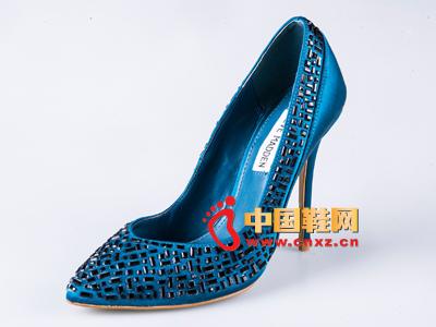 雅伦荻莎新款时尚女鞋 高跟单鞋