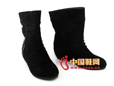 唐福轩老北京布鞋T055-498黑 时尚女单棉靴