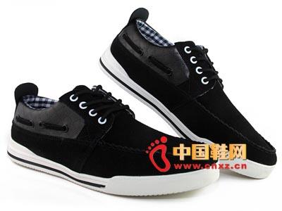唐福轩老北京布鞋T051-892黑 大气休闲男鞋