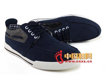 唐福轩老北京布鞋T051-952深蓝 大气休闲男鞋