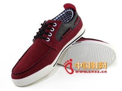 唐福轩老北京布鞋T051-953红 大气休闲男鞋