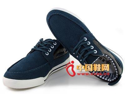 唐福轩老北京布鞋T051-954灰蓝 大气休闲男鞋