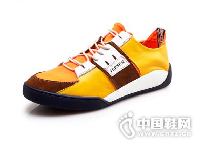 吉普森 英伦真皮休闲鞋男鞋子拼接板鞋潮流透气运动休闲鞋