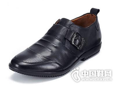 麦高夏季时尚透气凉鞋 真皮镂空皮鞋男商务休闲皮凉鞋