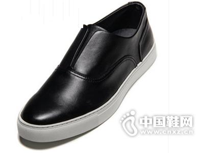 朗蒂维一脚蹬懒人板鞋夏季潮鞋男士休闲鞋韩版真皮透气黑白乐福鞋