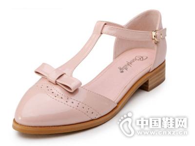卡芙琳2015夏季新款坡跟女凉鞋