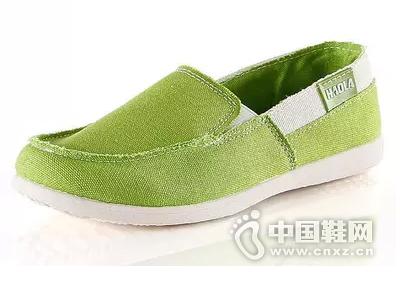 好啦学院风纯色牛筋底低帮帆布鞋女韩版潮一脚蹬懒人鞋套脚休闲鞋