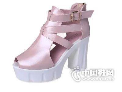 黑色高跟鞋漫步佳人女鞋性感白色鱼嘴鞋聚氨酯黑色凉鞋