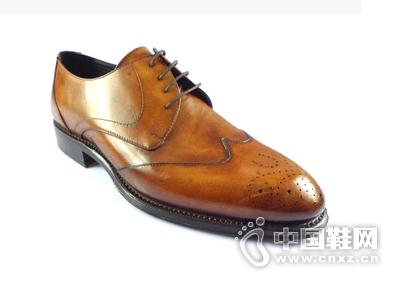 Pakerson皮鞋棕色牛皮正装皮鞋