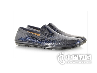 akerson Island Alligator 蓝色便鞋