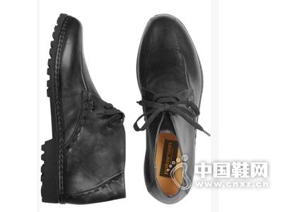 Pakerson Italian 黑色手工皮质短靴