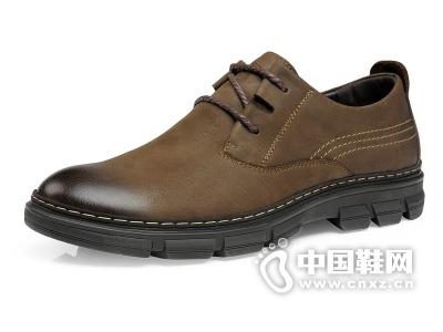 奥古仕盾新款欧美复古时尚男工装低帮鞋真皮碳头透气男鞋