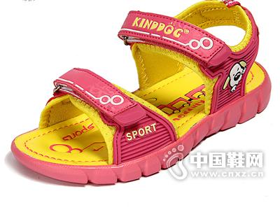 乖乖狗凉鞋女童夏季超轻软底露趾运动凉鞋