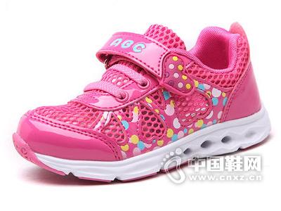 ABC女童鞋2015新款单网面鞋儿童透气休闲时尚运动鞋