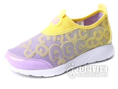 ABC童鞋女童鞋2015新款中小童一脚蹬透气网鞋学生儿童运动鞋