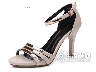 三雄麒 2015新款女鞋高跟鞋鱼嘴凉鞋超高跟