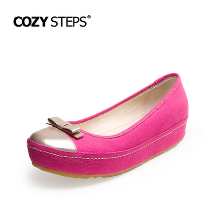 COZY STEPS2015新品浅口圆头女单鞋平底松糕