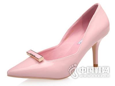 印象风2015新款秋季韩版苹果彩票主页网尖头浅口OL糖果色细跟粉嫩单鞋女婚鞋