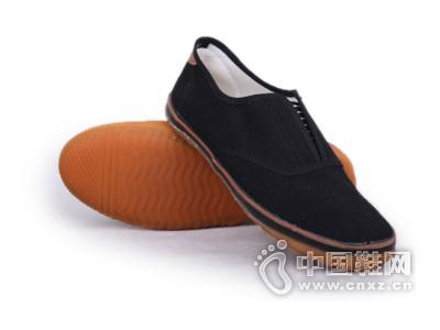 一步赢新款布胶鞋黑色