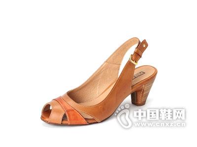 派高雁2015经典商务女鞋高跟鞋琥珀色