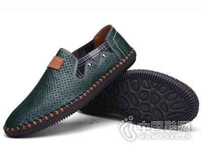 公羊真皮皮鞋2016新款男休闲鞋
