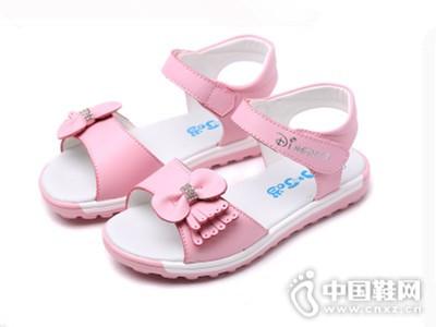 小叮当2016新款韩版蝴蝶结公主凉鞋