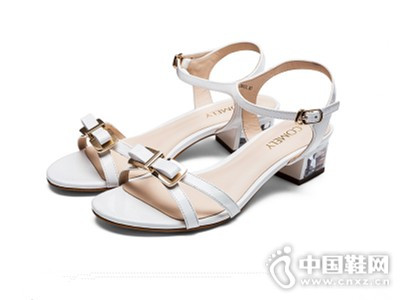 comely/康莉新款蝴蝶结水钻凉鞋