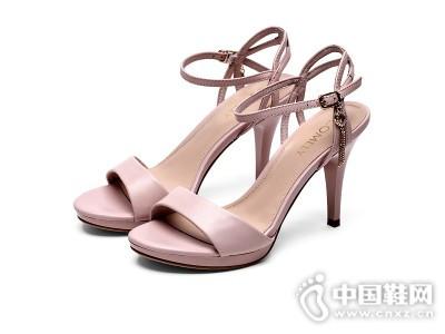 comely/康莉新款羊皮一字扣高跟鞋