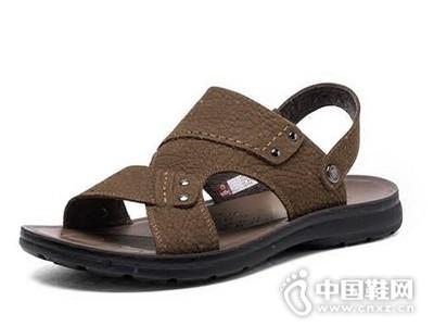 金利来2016新款两用皮鞋休闲沙滩鞋