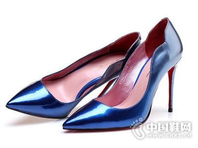 MARIOMAMAS玛丽露2016简约中空设计浅口尖头细跟渐变单鞋