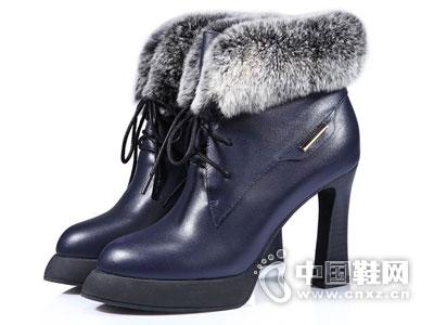 世尊皮鞋2016高跟时尚短靴新款